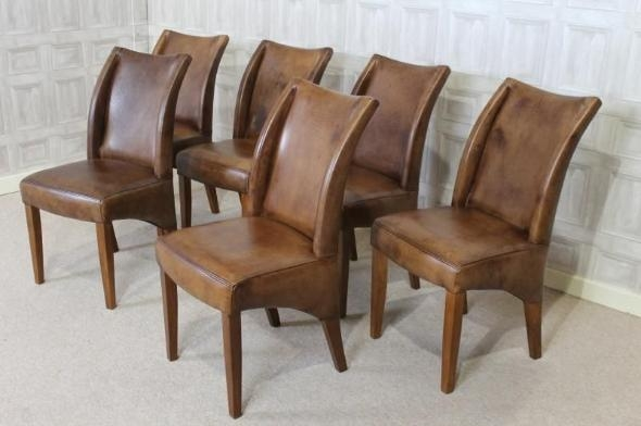 Vintage Style Leather Chair Within Most Recent Oak Leather Dining Chairs (Image 19 of 20)
