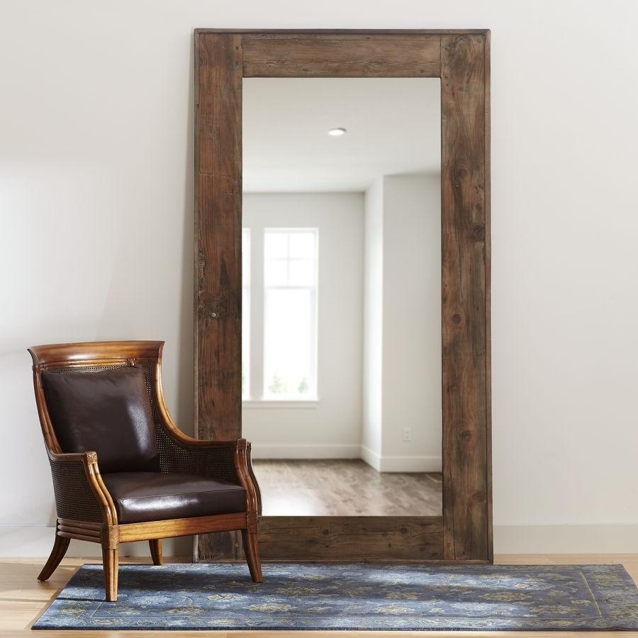 Vintage Wood Floor Mirror – Gracious Bed & Home – Bed, Bath And With Vintage Wood Mirrors (Photo 2 of 20)