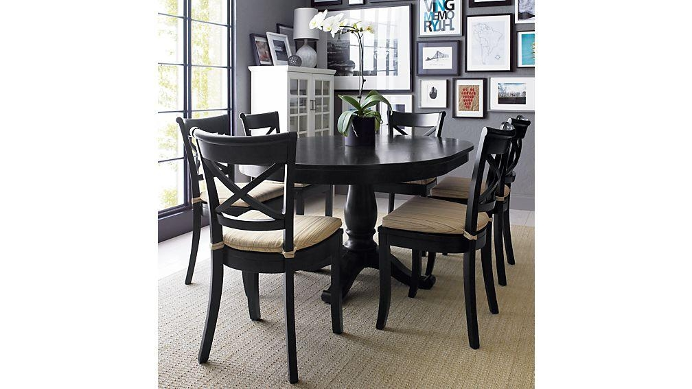 Vintner Black Wood Dining Chair And Cushion | Crate And Barrel Throughout Best And Newest Black Dining Chairs (View 11 of 20)