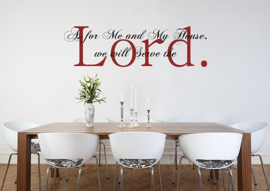 Vinyl Wall Art Decal Sticker As For Me And My House Joshua Pertaining To Scripture Vinyl Wall Art (View 12 of 20)