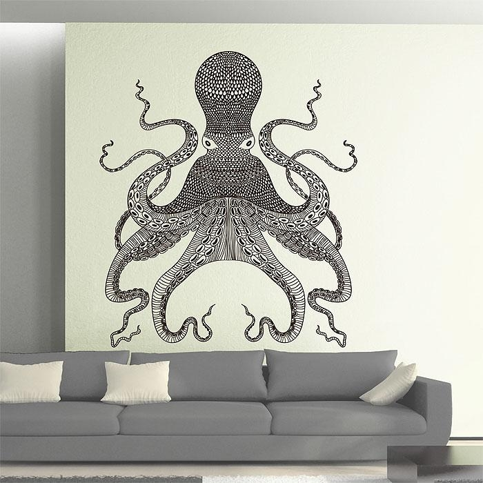Vinyl Wall Art Decal Within Octopus Tentacle Wall Art (Image 18 of 20)