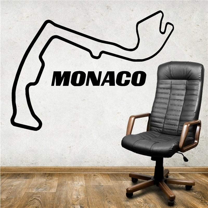 Vinyl Wall Art Picture – More Detailed Picture About G453 Monaco With Race Track Wall Art (Photo 17 of 20)