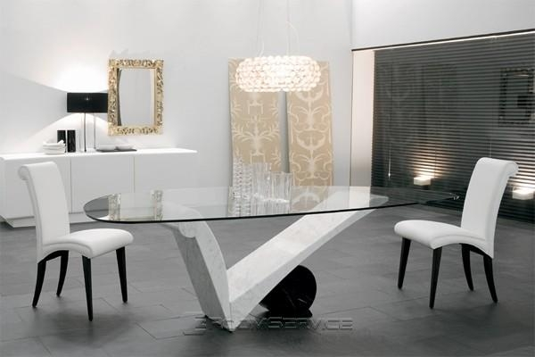 Viola D'amore Contemporary Marble Dining Table Within 2018 Contemporary Dining Tables (Image 20 of 20)