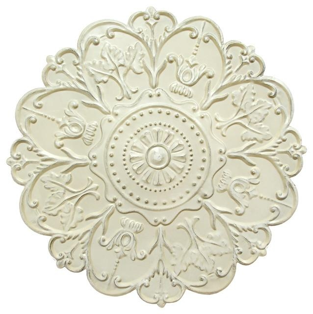 Wall Art: Astounding Medallion Wall Decor Galvanized Medallion For White Medallion Wall Art (Image 15 of 20)