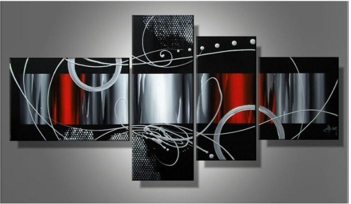 Wall Art Black | Wallartideas Throughout Red And Black Canvas Wall Art (View 4 of 20)