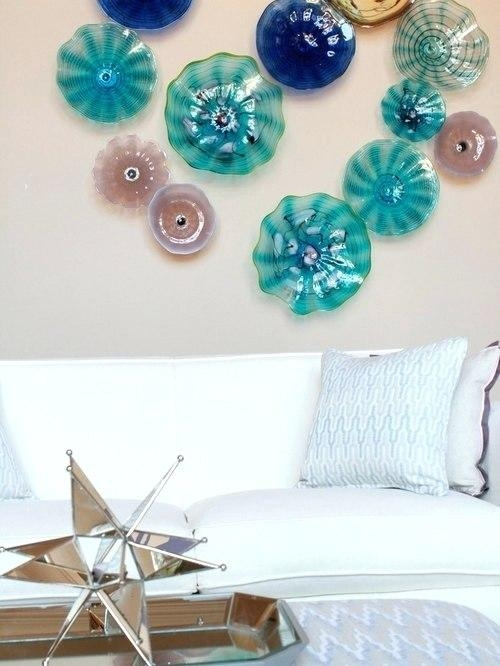 Wall Art ~ Blown Glass Plates Wall Art Saveemail Scattered Italian Intended For Italian Glass Wall Art (Image 13 of 20)