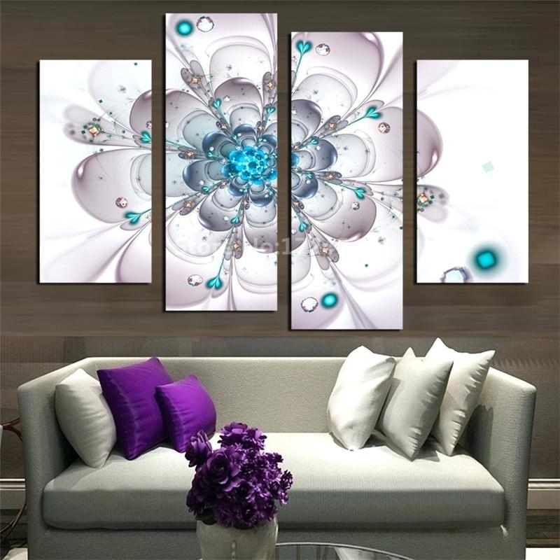 Wall Art ~ Blue And White Flower Wall Art Navy Blue Wall Art Dark In Flower Wall Art Canvas (Image 16 of 20)