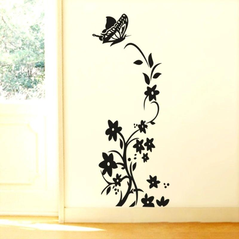 Wall Art ~ Blue Butterfly With Flower Vine Wall Art Grape Vine Intended For Old Grape Vine Wall Art (Image 5 of 20)