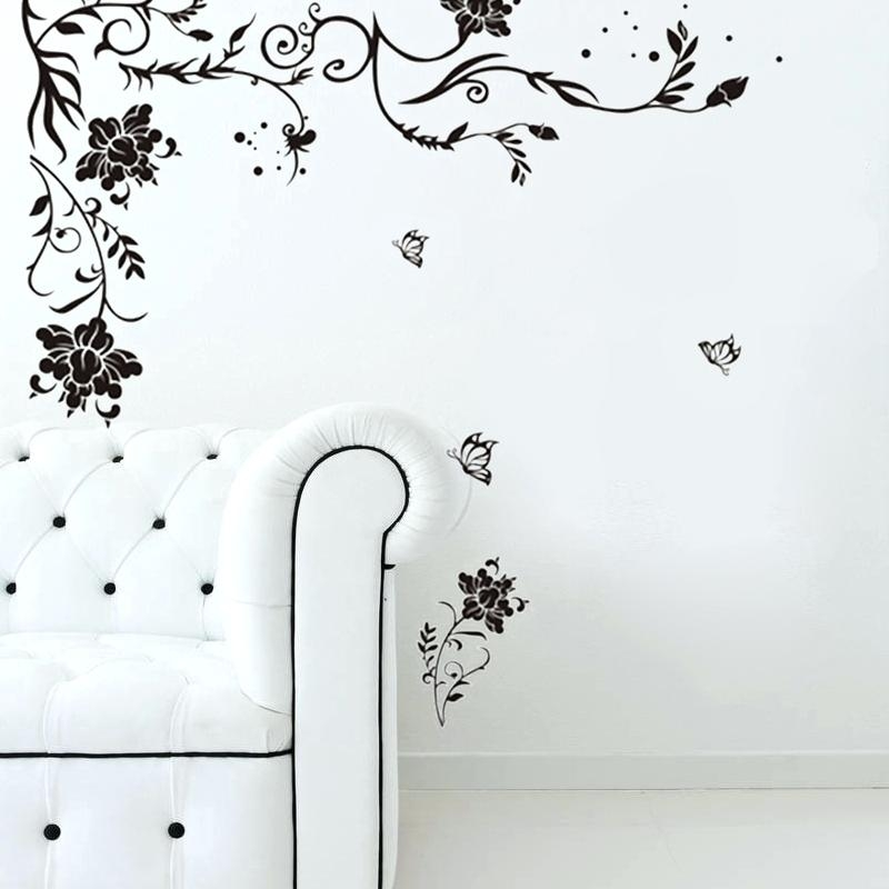 Wall Art ~ Butterfly Vine Wall Art Stickers Grape Vine Metal Wall With Grape Vine Metal Wall Art (Image 10 of 20)