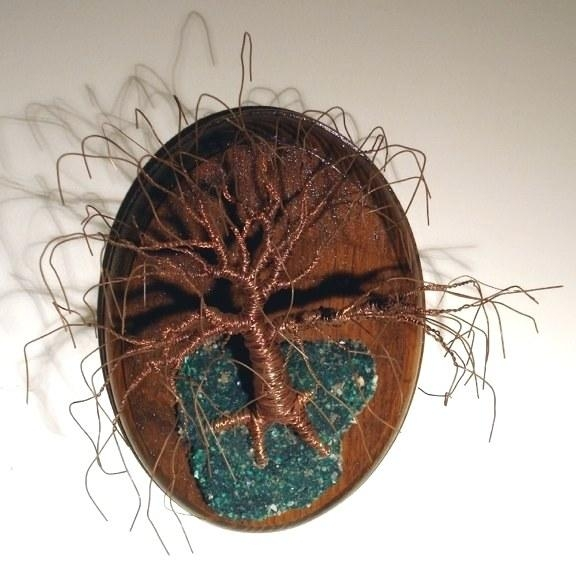 Wall Art ~ Copper Wire Tree Of Life Metal Wall Art Sculpture On A Intended For Copper Oak Tree Wall Art (Image 20 of 20)