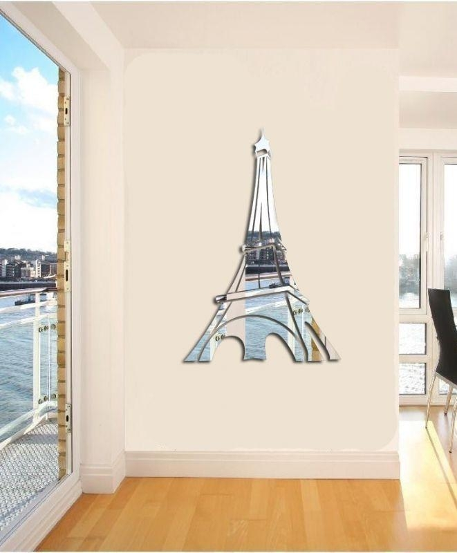 Wall Art Decor: 3D Eiffel Tower Wall Art Simple Awesome Aliexpress Throughout Eiffel Tower Wall Art (Image 17 of 20)