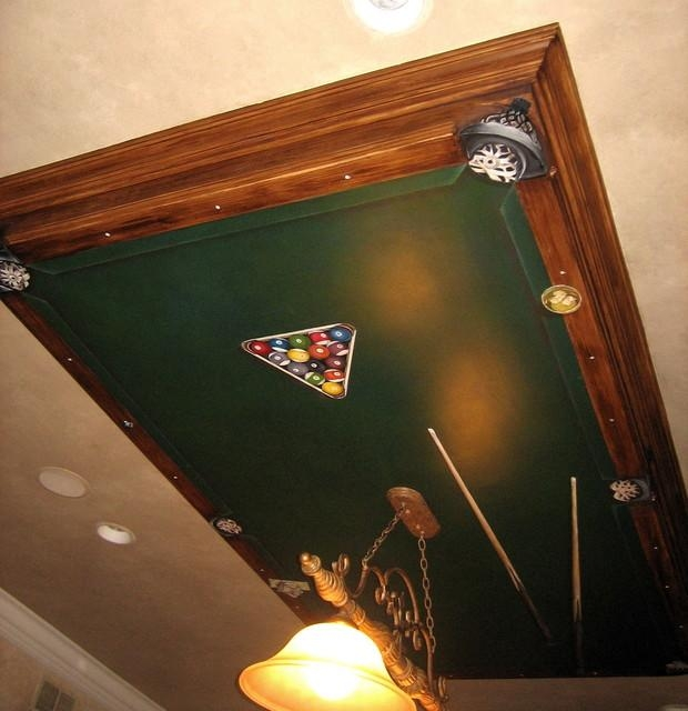 Wall Art Decor: Ceiling Hanging Pool Table Wall Art Design Unique With Regard To Billiard Wall Art (View 18 of 20)