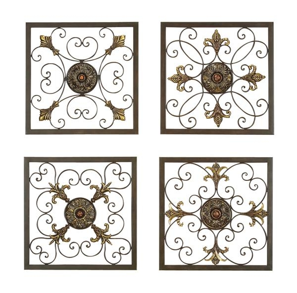 Wall Art Decor: Elegant Grilles Italian Metal Wall Art Style With Italian Silver Wall Art (Image 16 of 20)
