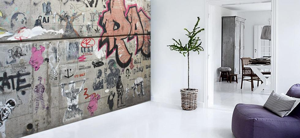 Wall Art Decor: Fabulous And Awesome Painted Art Wall Mural On In Abstract Art Wall Murals (View 12 of 20)
