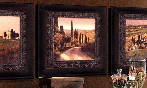 Wall Art Decor: Responsible Integrated Large Tuscan Wall Art Intended For Framed Italian Wall Art (Image 17 of 20)