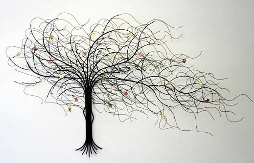 Wall Art Decor: September Dead Metal Tree Art For Walls Wrought For Iron Tree Wall Art (Image 19 of 20)