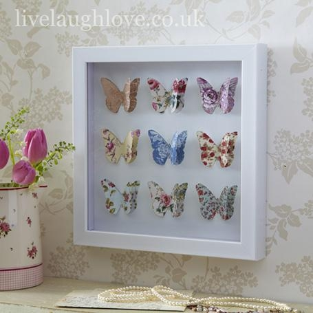 Wall Art Design Ideas : 3D Butterfly Framed Wall Art – Unique 3D Pertaining To 3D Butterfly Framed Wall Art (Image 17 of 20)