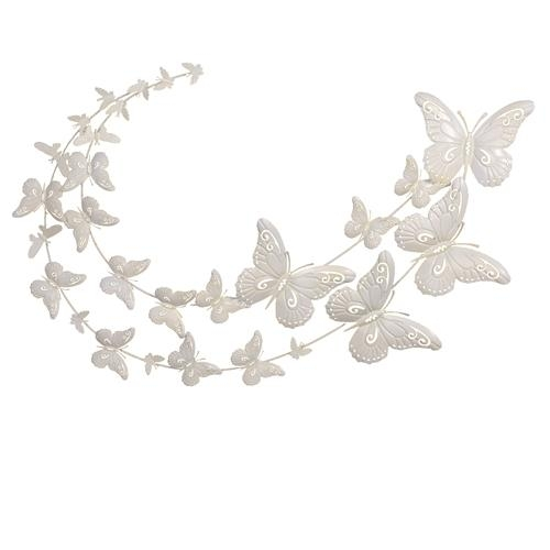 Featured Image of White Metal Butterfly Wall Art
