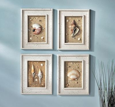 Wall Art Design Ideas: Amazing Seashell Prints Wall Art 75 About Pertaining To Seashell Prints Wall Art (Image 18 of 20)