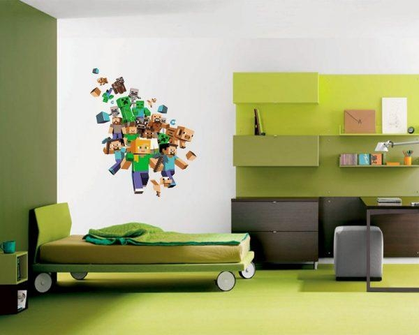 Wall Art Design Ideas: Astonishing Minecraft Wall Art Uk 47 On With Minecraft Wall Art Uk (View 5 of 20)