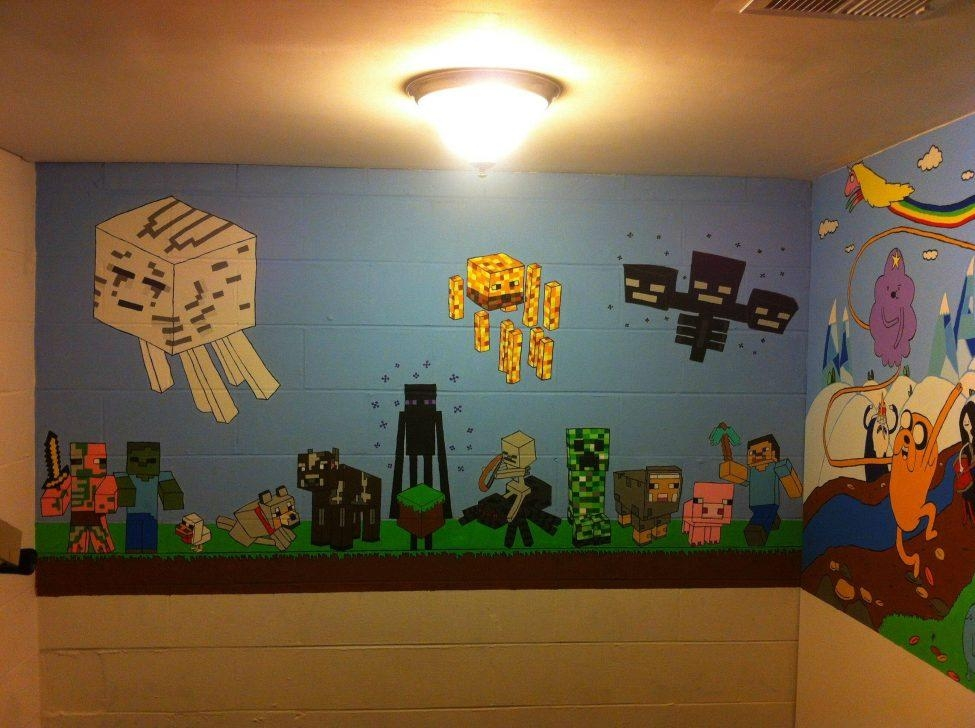 Wall Art Design Ideas: Awesome Minecraft Wall Art Uk 93 About Pertaining To Minecraft Wall Art Uk (Image 11 of 20)