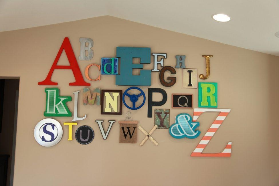 Wall Art Design Ideas: Best Decorative Initials Wall Art 49 For For Decorative Initials Wall Art (Image 10 of 20)