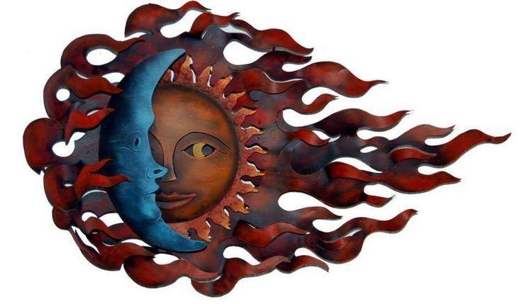 Wall Art Design Ideas: Bird Cages Sun And Moon Metal Wall Art Intended For Sun And Moon Metal Wall Art (View 6 of 20)