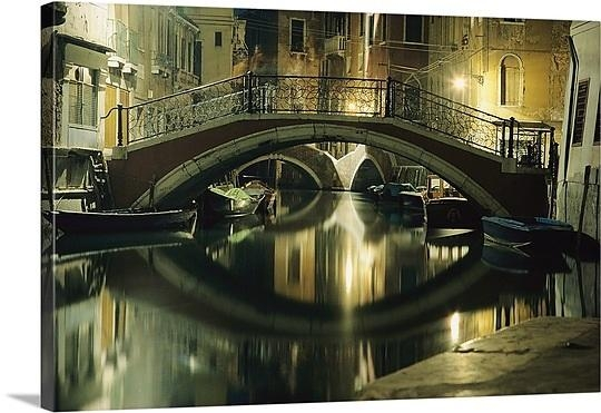 Wall Art Design Ideas: Bridge Wall Art Italy Themes Simple Venice Inside Italian Scene Wall Art (View 5 of 20)