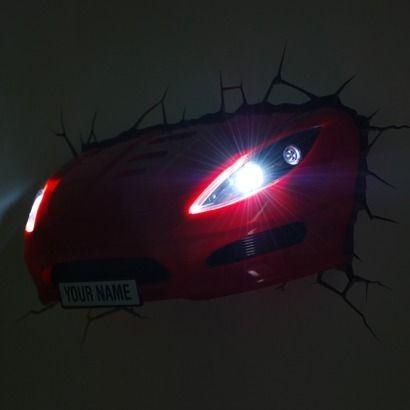 Wall Art Design Ideas: Car 3D Wall Art Night Light Your Name Pertaining To 3D Wall Art Nightlight (Image 14 of 20)
