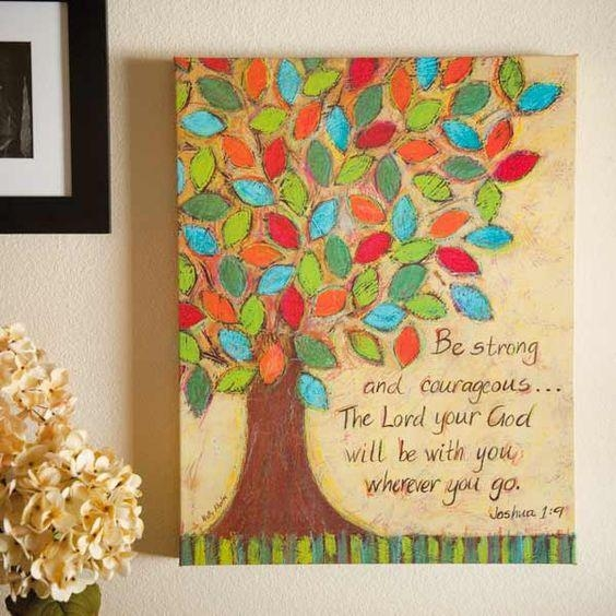 Wall Art Design Ideas: Courageous Painting Christian Wall Art With Regard To Christian Wall Art Canvas (Image 16 of 20)