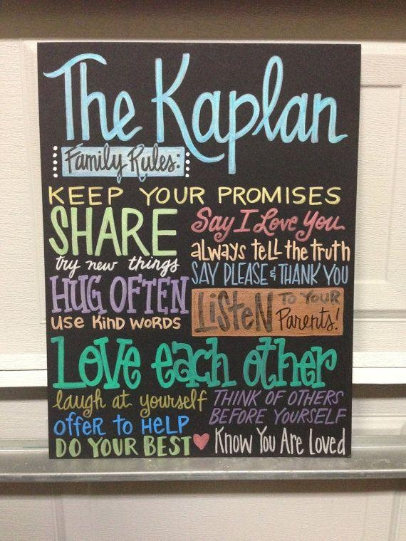 Wall Art Design Ideas: Elegant Personalized Family Rules Wall Art Pertaining To Personalized Family Rules Wall Art (Image 16 of 20)