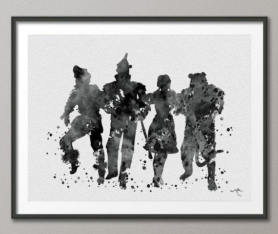 Wall Art Design Ideas: Elegant Wizard Of Oz Wall Art 78 For Your Inside Wizard Of Oz Wall Art (Image 12 of 20)