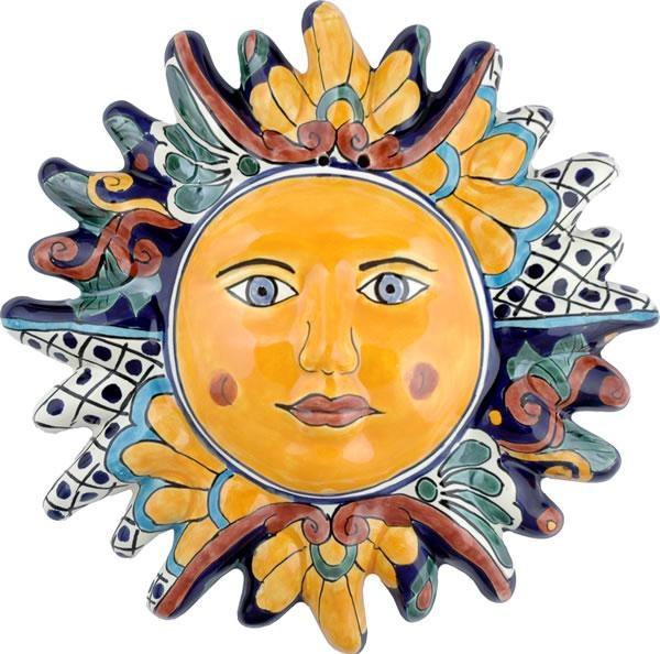 Wall Art Design Ideas: Faces Sun Mexican Ceramic Wall Art Regarding Mexican Ceramic Wall Art (Image 18 of 20)