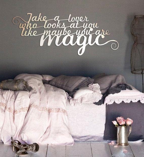 Wall Art Design Ideas: Fancy Metal Wall Art Quotes 62 For Your Throughout Metal Wall Art Quotes (Image 17 of 20)