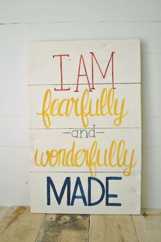 20 Collection of Fearfully and Wonderfully Made Wall Art | Wall Art ...