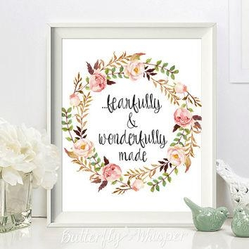 Wall Art Design Ideas : Fearfully And Wonderfully Made Wall Art With Regard To Fearfully And Wonderfully Made Wall Art (View 3 of 20)