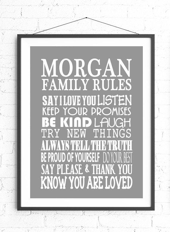 Wall Art Design Ideas: Good Personalized Family Rules Wall Art 63 Pertaining To Personalized Family Rules Wall Art (Image 17 of 20)