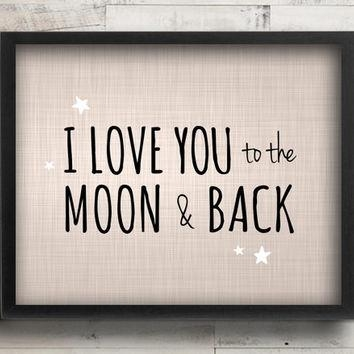 Wall Art Design Ideas : I Love You To The Moon And Back Wall Art With Love You To The Moon And Back Wall Art (View 15 of 20)