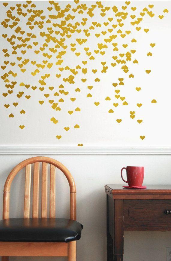 Wall Art Design Ideas: Inspirational Gold Wall Art Stickers 52 On In Gold Wall Art Stickers (Image 18 of 20)