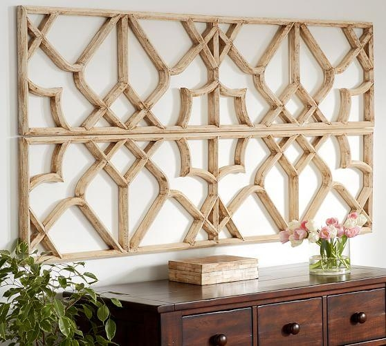 Wall Art Design Ideas: Lattice Amazing Wicker Wall Art Pertaining To Wicker Rattan Wall Art (Image 9 of 20)