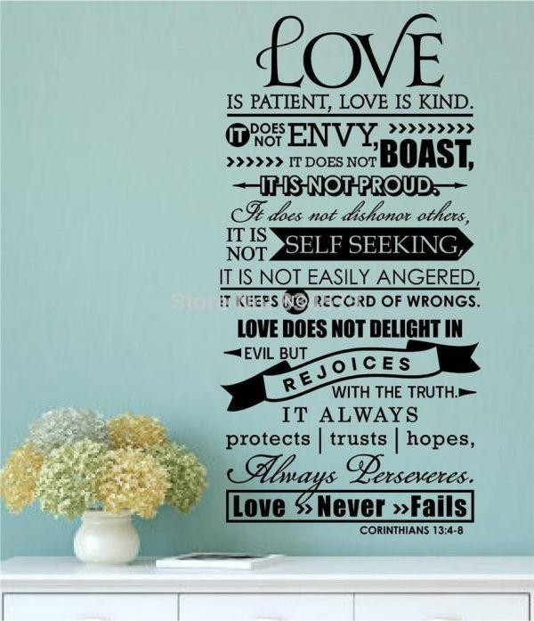 Wall Art Design Ideas : Love Is Patient Love Is Kind Wall Art Intended For Love Is Patient Love Is Kind Wall Art (Image 19 of 20)
