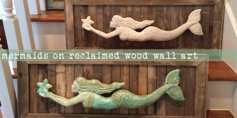 Wall Art Design Ideas: Lovely Mermaid Wood Wall Art 56 About With Regard To Mermaid Wood Wall Art (View 11 of 20)