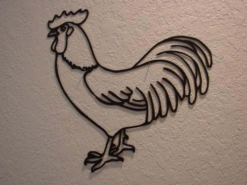 Wall Art Design Ideas : Metal Rooster Wall Art – Beautiful Metal With Regard To Metal Rooster Wall Art (View 4 of 20)