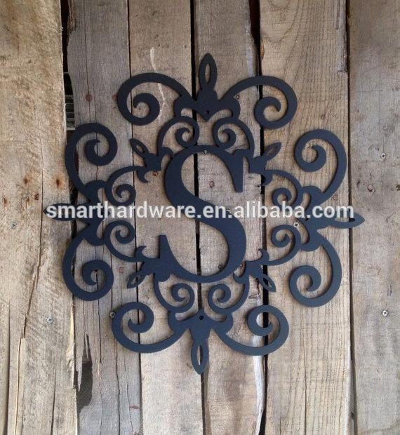 Wall Art Design Ideas : Monogram Metal Wall Art – Great Monogram With Monogram Metal Wall Art (Image 15 of 20)