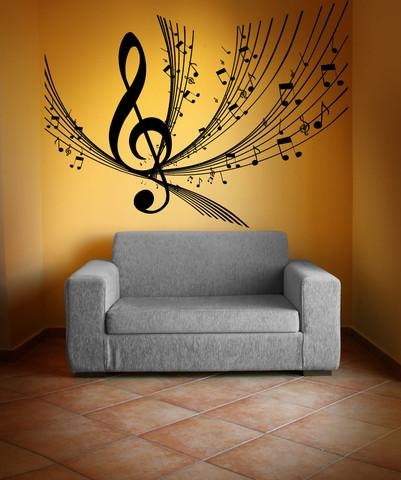 Wall Art Design Ideas: New Music Notes Wall Art Decals 82 In Within Music Notes Wall Art Decals (Image 18 of 20)
