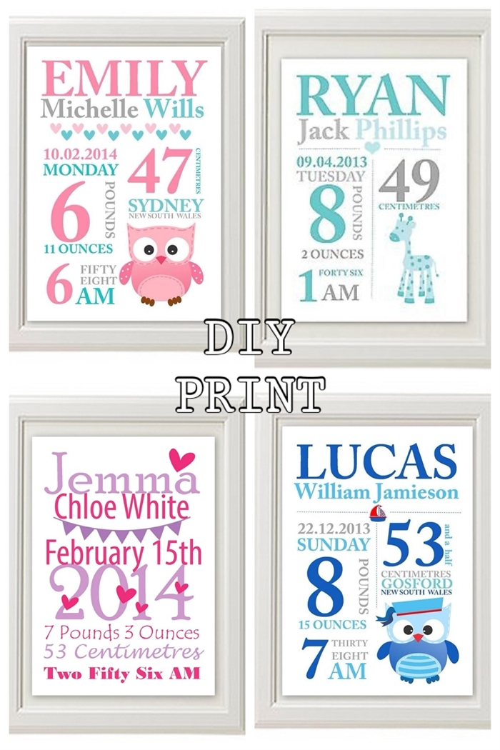 Wall Art Design Ideas: Nursery Formidable Personalized Baby Wall Within Personalized Baby Wall Art (Image 18 of 20)