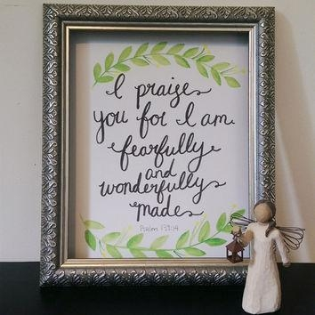 Wall Art Design Ideas: Perfect Fearfully And Wonderfully Made Wall In Fearfully And Wonderfully Made Wall Art (View 5 of 20)