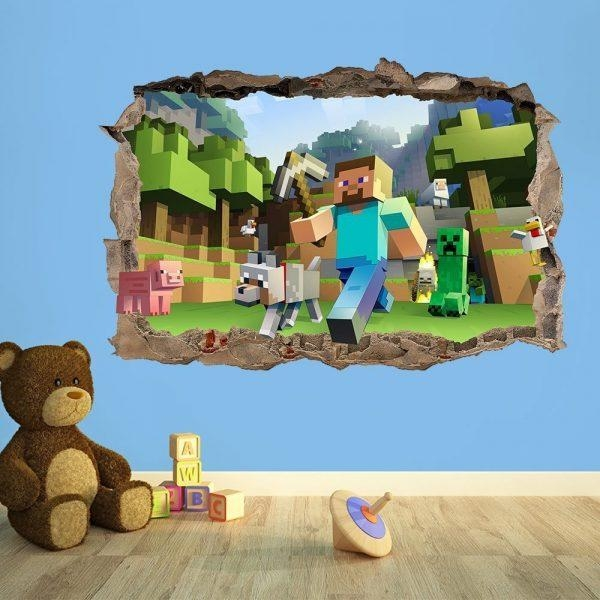 Wall Art Design Ideas: Perfect Minecraft Wall Art Uk 50 For Your Regarding Minecraft Wall Art Uk (Image 12 of 20)