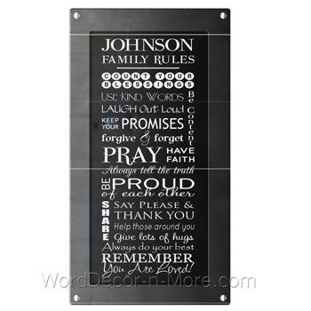 Wall Art Design Ideas : Personalized Family Rules Wall Art For Personalized Family Rules Wall Art (Image 15 of 20)