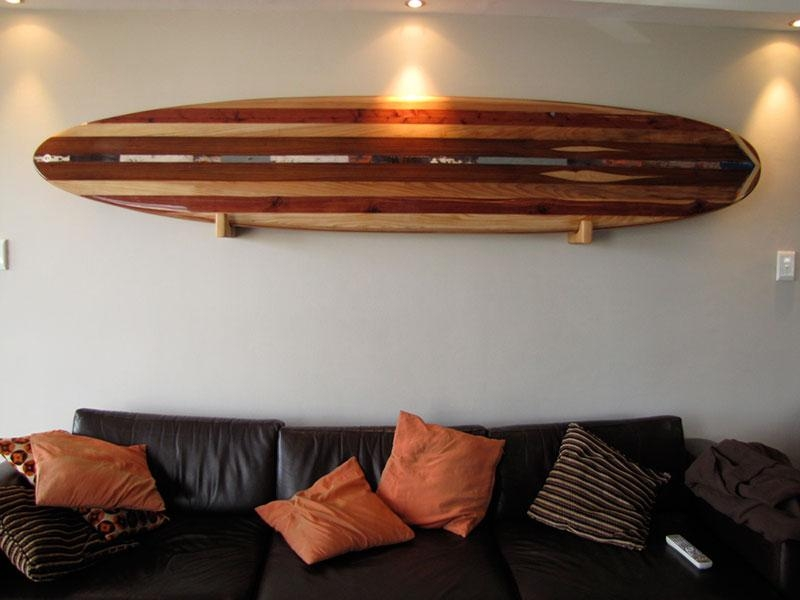 Wall Art Design Ideas: Solidwood Nautical Surfboard Wall Art Home Intended For Surf Board Wall Art (View 12 of 20)